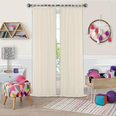 Elrene Jolie Semi Sheer Tab Top Window Curtain 21190Wht Throughout Elrene Jolie Tie Top Curtain Panels (#11 of 35)