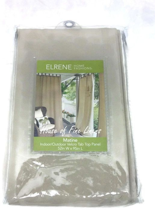 """Elrene Matine Solid Indoor/outdoor 52"""" X 95"""" Window Curtain Panel Taupe With Regard To Matine Indoor/outdoor Curtain Panels (#15 of 50)"""
