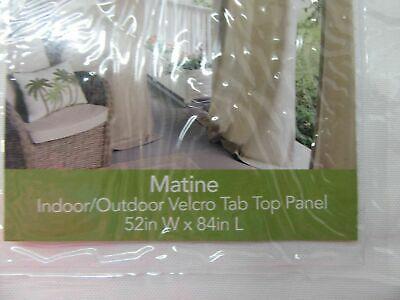 Elrene Matine Tab Top Indoor/outdoor Curtain Panel Upf 50+ In Matine Indoor/outdoor Curtain Panels (#16 of 50)