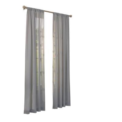 Elrene Valentina Sheer White Single Window Curtain Panel With Light Filtering Sheer Single Curtain Panels (#14 of 38)