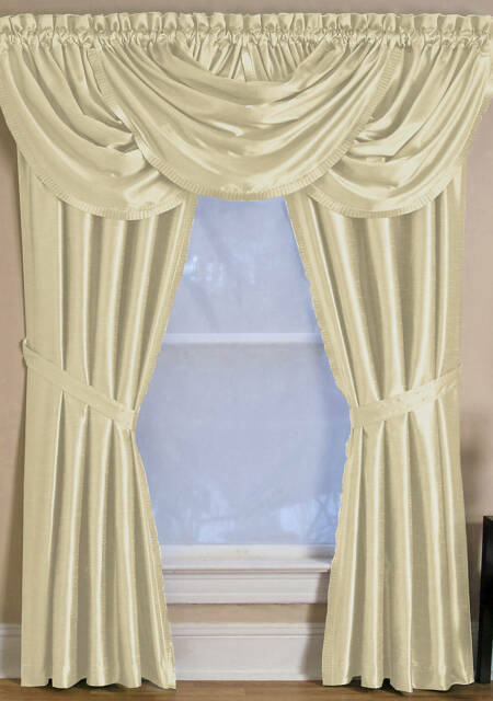"Elrene Versailles 52"" X 108"" One Rod Pocket Window Panel Ivory With Regard To Elrene Versailles Pleated Blackout Curtain Panels (View 14 of 38)"