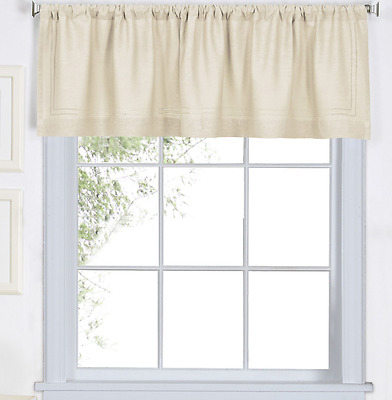 "Elrene Versailles Curtain Waterfall Valance 52""w X 36""l Throughout Elrene Versailles Pleated Blackout Curtain Panels (View 15 of 38)"