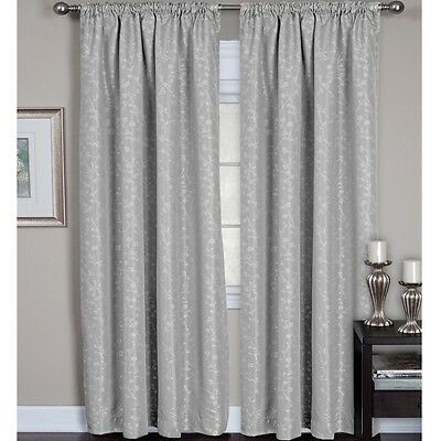 Elrene Zen Back Tab/rod Pocket Curtain Panel 52X84In, Grey With Elrene Mia Jacquard Blackout Curtain Panels (View 23 of 37)