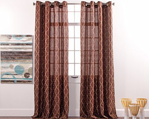 Embroidered | Draperies & Curtains In Overseas Leaf Swirl Embroidered Curtain Panel Pairs (View 15 of 50)