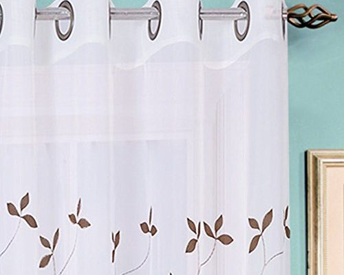 Embroidered | Draperies & Curtains Intended For Overseas Leaf Swirl Embroidered Curtain Panel Pairs (View 50 of 50)