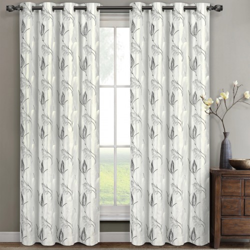 Embroidered Olivia Window Panels (Set Of 2) Regarding Lined Grommet Curtain Panels (#12 of 31)