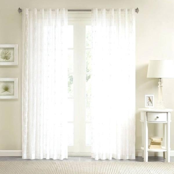Embroidered Sheer Curtain Panels – Honestaerosol (#17 of 50)
