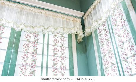 Embroidery Curtains Images, Stock Photos & Vectors Regarding Lambrequin Boho Paisley Cotton Curtain Panels (#19 of 41)