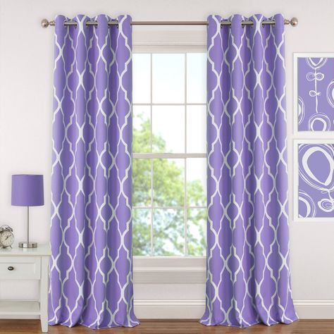 Emery Juvenile Geometric Blackout Grommet Single Curtain With Essentials Almaden Fretwork Printed Grommet Top Curtain Panel Pairs (#5 of 38)