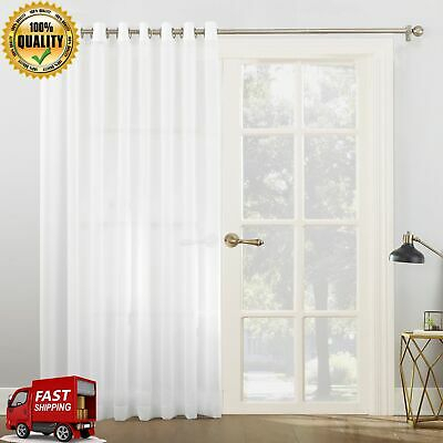 Emily Sheer Voile Patio Door Side Light Window Curtain Panel Within Emily Sheer Voile Solid Single Patio Door Curtain Panels (View 9 of 50)