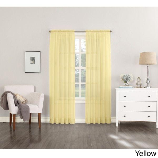 Emily Sheer Voile Single Curtain Panel | Curtains | Drapes With Regard To Emily Sheer Voile Single Curtain Panels (View 7 of 41)
