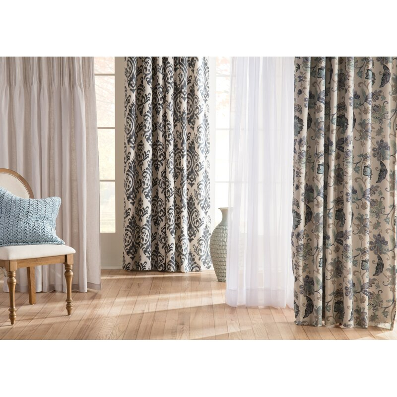 Emily Solid Color Sheer Rod Pocket Window Single Curtain Panel For Emily Sheer Voile Solid Single Patio Door Curtain Panels (View 13 of 50)