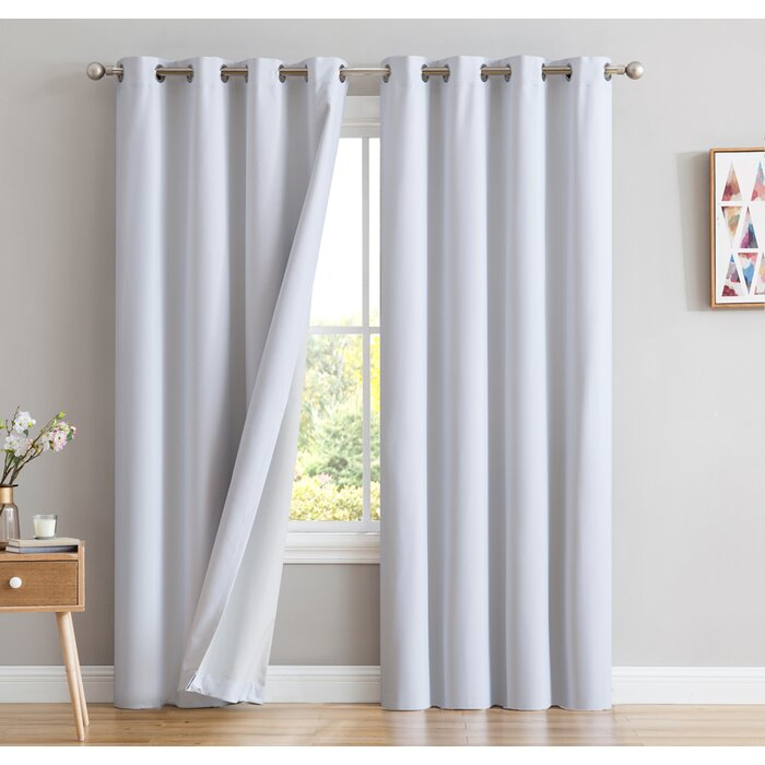 Energy Efficient Blackout Curtains With Elrene Mia Jacquard Blackout Curtain Panels (View 24 of 37)