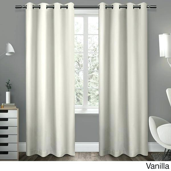 Envogue Window Panel Pair – Timgough For Sateen Woven Blackout Curtain Panel Pairs With Pinch Pleat Top (#6 of 40)