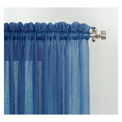 Erica Crushed Sheer Voile Rod Pocket Curtain Panel Blue 51 Within Erica Sheer Crushed Voile Single Curtain Panels (#21 of 41)