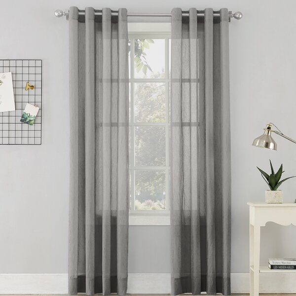 Erica Sheer Grommet Single Curtain Panel For Luxury Collection Cranston Sheer Curtain Panel Pairs (View 17 of 42)