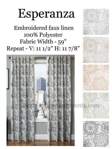Esperanza Linen Style Curtains  New! | Bestwindowtreatments Pertaining To Faux Linen Extra Wide Blackout Curtains (View 15 of 50)