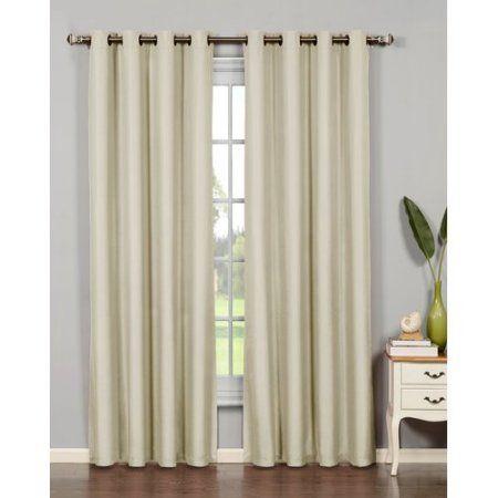 Euphoria Microfiber Room Darkening Grommet Curtain Panels Pertaining To Sugar Creek Grommet Top Loha Linen Window Curtain Panel Pairs (View 27 of 50)