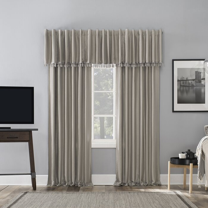Evelina Faux Dupioni Silk Extreme Solid Max Blackout Thermal Tab Top Single  Curtain Panel For Evelina Faux Dupioni Silk Extreme Blackout Back Tab Curtain Panels (View 14 of 33)