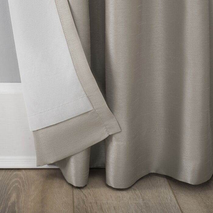 Evelina Faux Dupioni Silk Extreme Solid Max Blackout Thermal Tab Top Single  Curtain Panel With Regard To Evelina Faux Dupioni Silk Extreme Blackout Back Tab Curtain Panels (View 22 of 33)