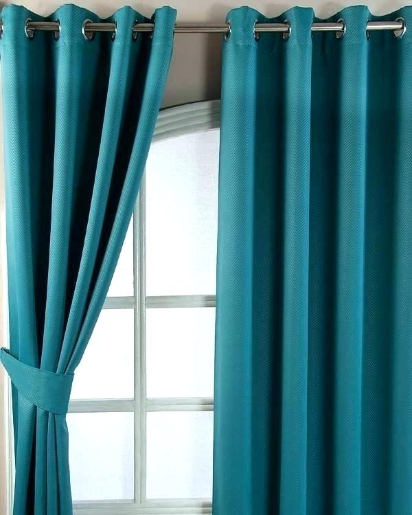 Exclusive Fabrics Aqua Rod Pocket And Back Tab Blackout With Regard To Thermal Rod Pocket Blackout Curtain Panel Pairs (#24 of 50)