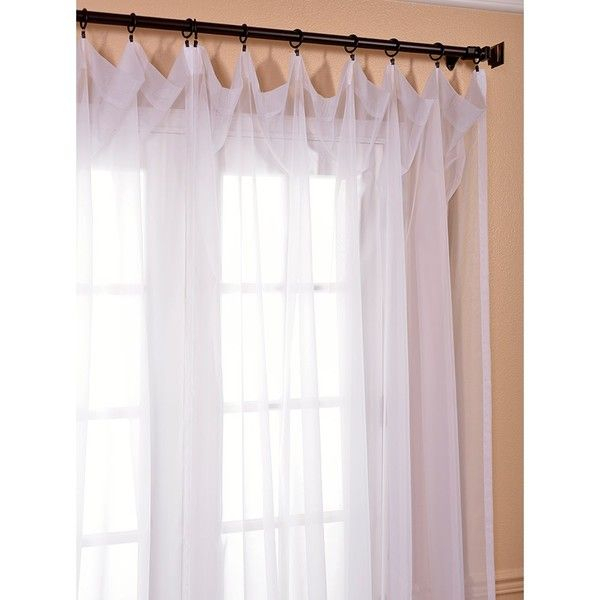 Exclusive Fabrics Extra Wide White Poly Voile Sheer Curtain Regarding Extra Wide White Voile Sheer Curtain Panels (View 11 of 50)