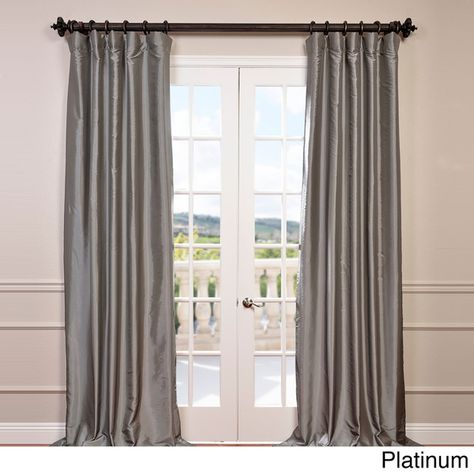 Exclusive Fabrics Faux Silk Taffeta Solid Blackout Curtain In Solid Faux Silk Taffeta Graphite Single Curtain Panels (View 5 of 50)