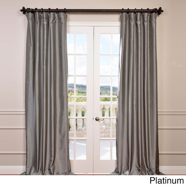 Exclusive Fabrics Faux Silk Taffeta Solid Blackout Curtain Pertaining To Solid Faux Silk Taffeta Graphite Single Curtain Panels (View 3 of 50)