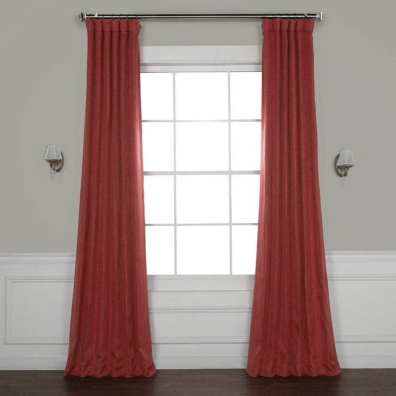 Exclusive Fabrics & Furnishing Faux Linen Blackout Rod With Faux Linen Extra Wide Blackout Curtains (View 16 of 50)