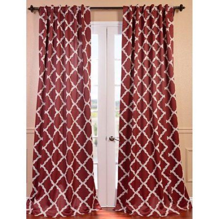 Exclusive Fabrics & Furnishing Trellise Blackout Curtain For Primebeau Geometric Pattern Blackout Curtain Pairs (#15 of 38)