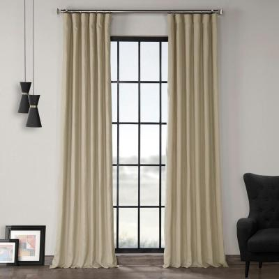 Exclusive Fabrics & Furnishings Ancient Ivory French Linen Regarding Signature French Linen Curtain Panels (#9 of 50)