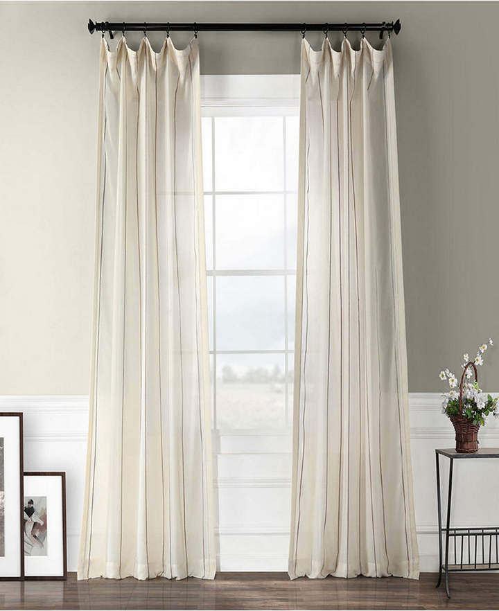 Exclusive Fabrics & Furnishings Aruba Striped Linen Sheer 50 Inside Montpellier Striped Linen Sheer Curtains (#20 of 50)