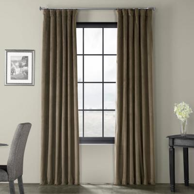 Exclusive Fabrics & Furnishings Aztec Gold Heritage Plush Regarding Heritage Plush Velvet Single Curtain Panels (View 14 of 50)