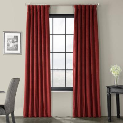 Exclusive Fabrics & Furnishings Blackout Signature Midnight Within Signature Ivory Velvet Blackout Single Curtain Panels (View 7 of 50)