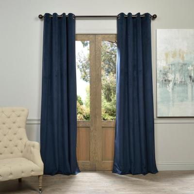 Exclusive Fabrics & Furnishings Blackout Signature Off White Inside Signature Pinch Pleated Blackout Solid Velvet Curtain Panels (View 4 of 50)
