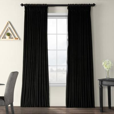 Exclusive Fabrics & Furnishings Blackout Signature Silver In Signature Blackout Velvet Curtains (#8 of 50)