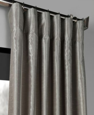 Exclusive Fabrics & Furnishings Blackout Vintage Textured 50 With Regard To Silver Vintage Faux Textured Silk Curtain Panels (View 12 of 50)