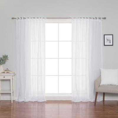 Exclusive Fabrics & Furnishings Crisp White French Linen Intended For Signature French Linen Curtain Panels (#10 of 50)