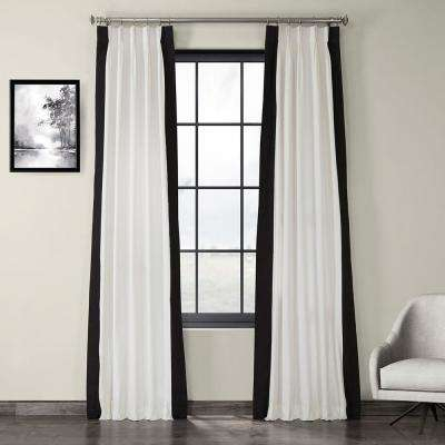 Exclusive Fabrics & Furnishings Fresh Popcorn And Black Room Inside Solid Cotton Pleated Curtains (#17 of 50)