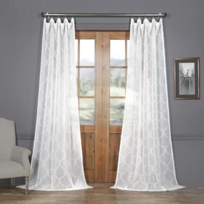 Exclusive Fabrics & Furnishings Purity White Linen Sheer Throughout Signature French Linen Curtain Panels (#11 of 50)