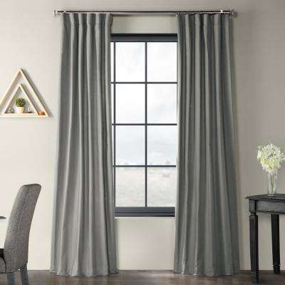 Exclusive Fabrics & Furnishings Shadow Grey Solid Country Intended For Solid Country Cotton Linen Weave Curtain Panels (#15 of 50)