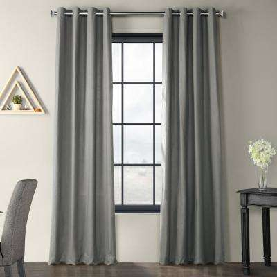 Exclusive Fabrics & Furnishings Shadow Grey Solid Country Within Solid Country Cotton Linen Weave Curtain Panels (#16 of 50)