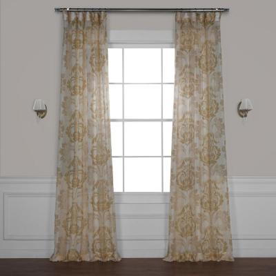 Exclusive Fabrics & Furnishings Signature Double Wide Soft Within Signature Extrawide Double Layer Sheer Curtain Panels (#20 of 50)