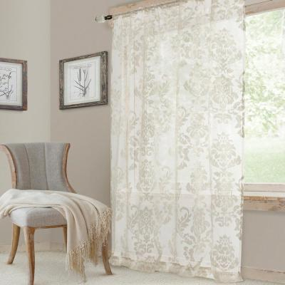 Exclusive Fabrics & Furnishings Signature Double Wide White Regarding Signature White Double Layer Sheer Curtain Panels (View 15 of 50)