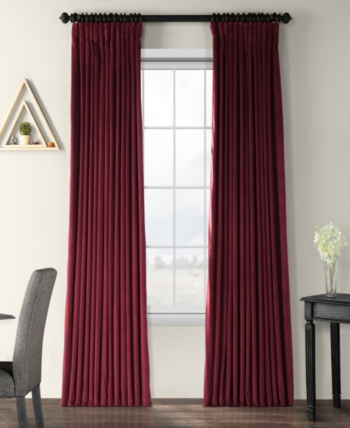 Exclusive Fabrics & Furnishings Signature Extra Wide For Signature Pinch Pleated Blackout Solid Velvet Curtain Panels (View 26 of 50)