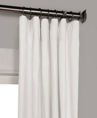 "Exclusive Fabrics & Furnishings Solid Cotton Blackout 50"" X Intended For Solid Cotton Curtain Panels (View 17 of 47)"