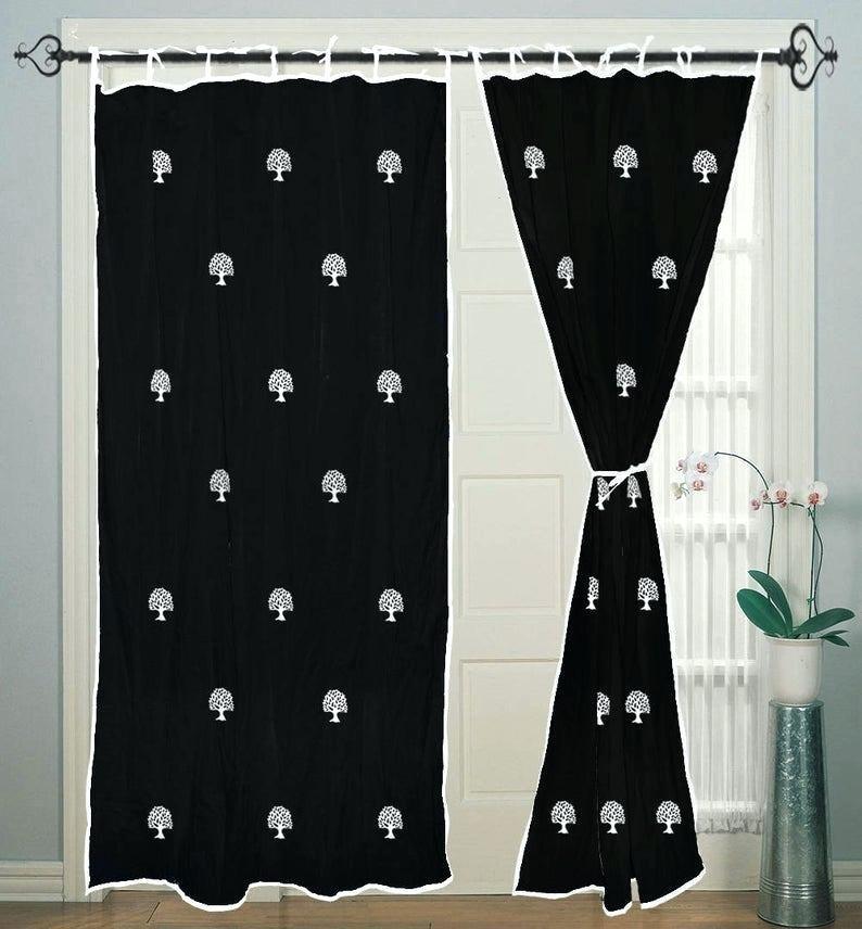 Exclusive Fabrics Lacuna Cotton Printed Curtain Panel Panels Pertaining To Ink Ivy Ankara Cotton Printed Single Curtain Panels (View 13 of 50)