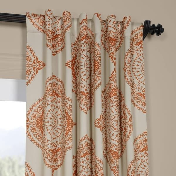 Exclusive Fabrics Moroccan Style Thermal Insulated Blackout Pertaining To Thermal Insulated Blackout Curtain Pairs (View 7 of 50)