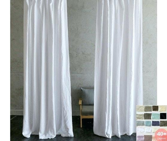 Exclusive Fabrics Signature French Linen Curtain Panel White In French Linen Lined Curtain Panels (#14 of 50)