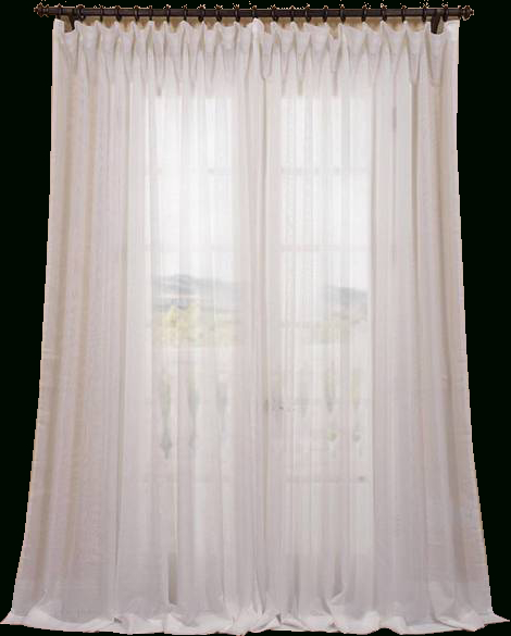 Exclusive Fabrics Signature Off White Extra Wide Double Layer Sheer Curtain  Panel, 100X96 Within Signature Extrawide Double Layer Sheer Curtain Panels (#22 of 50)